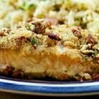 Salmon Bake With Pecan-Crunch Coating Recipe