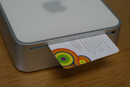 Hicks design card and Mac mini