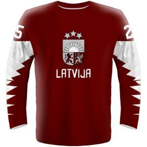 свитер сборной Латвии