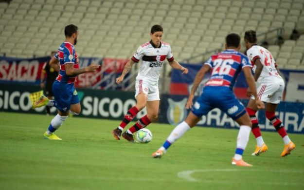 Flamengo desperdiça chances e empata com o Fortaleza - Divulgação