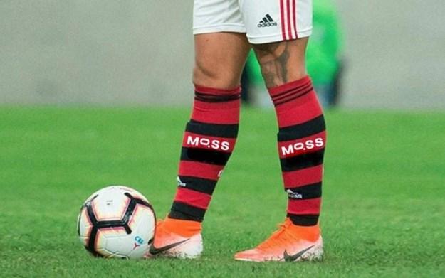 Moss no meião do Flamengo