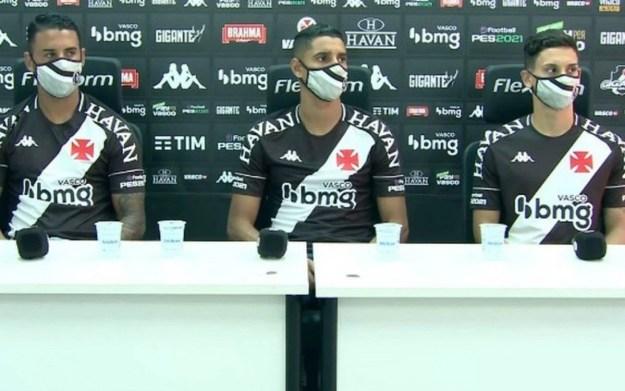 Michel, Daniel Amorim e Sarrafiore foram apresentados