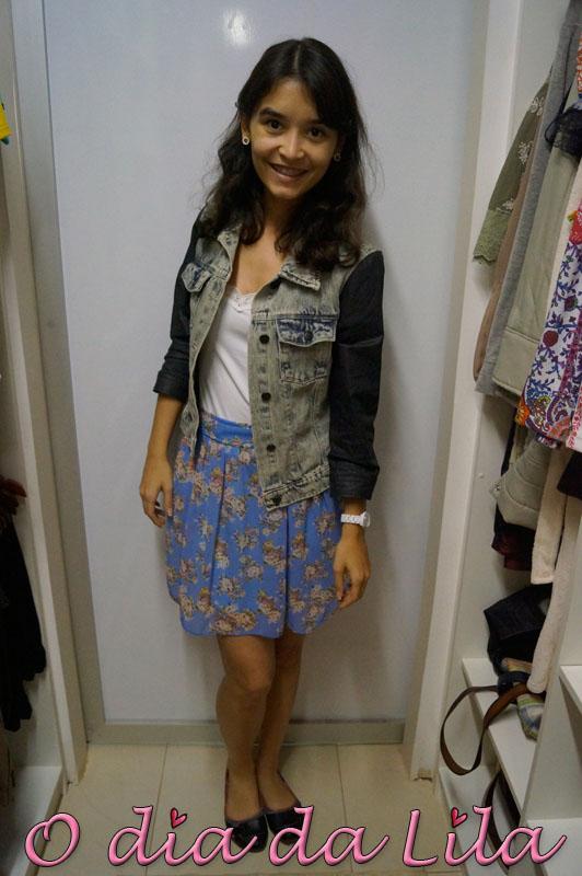 saia floral e jaqueta jeans 3
