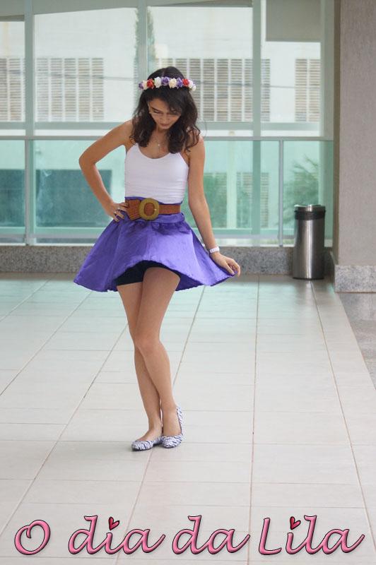 #lookdalila saia roxa5