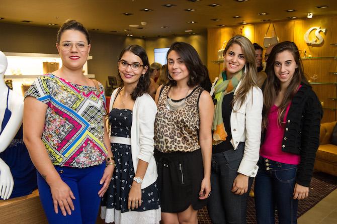 Ana Maria Marques, Larissa Rehem, Rafaela Rabelo, Larissa e Laiane Andrade