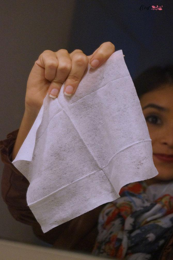 lenço de limpeza facial