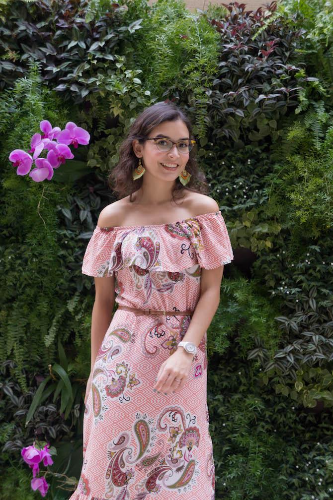 vestido longo estampado como usar-odiadalila