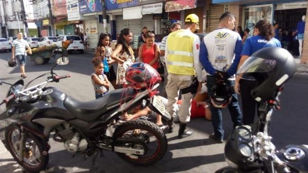 Ronda no Bairro presta socorro no Centro de Maceió (Foto: Ascom Ronda no Bairro)
