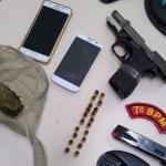 Copes e CISP de Batalha prendem jovem com arma e droga