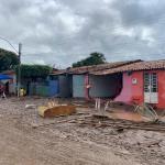 Casas de Santana do Ipanema amanhecem destruídas após enchente