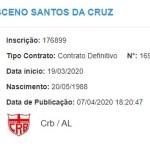 Magno Cruz tem nome publicado no BID e está à disposição do CRB