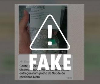 """É falso que """"kits para tratar Covid-19"""" são distribuídos em unidade de saúde de Maceió"""