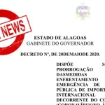 Suposto novo decreto do Governo de AL que circula nas redes sociais é falso