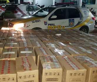 Carga de cigarros contrabandeados avaliada em R$90 mil foi apreendida em Craíbas