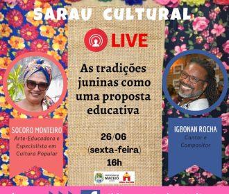 Sarau cultural da biblioteca Carlos Moliterno abordará tradições juninas