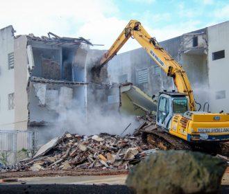 Pinheiro: empresa altera cronograma de demolições