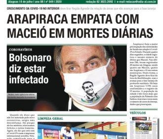 ARAPIRACA EMPATA COM MACEIÓ EM MORTES DIÁRIAS