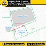 Obra da Casal altera trânsito na Rua Tereza de Azevedo, em Maceió