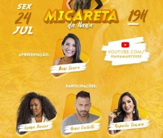 Naná Martins faz live show para levar axé e cultura até a sala da sua casa