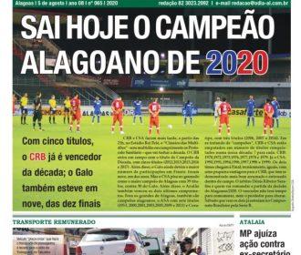SAI HOJE O CAMPEÃO ALAGOANO DE 2020