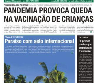 PANDEMIA PROVOCA QUEDA NA VACINAÇÃO DE CRIANÇAS