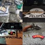 Equipes da PM retiram de circulação mais cinco armas de fogo e registram apreensão de drogas