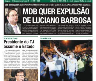 MDB QUER EXPULSÃO DE LUCIANO BARBOSA