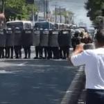 Bope confronta rodoviários da Veleiro que protestavam na Avenida Fernandes Lima