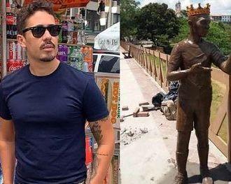 Moradores proíbem instalação de estátua de Carlinhos Maia em Penedo