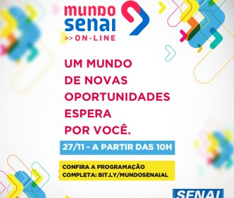 Mundo Senai oferta orientação profissional on-line