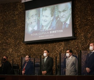 Em posse do TJ, governador destaca união entre os poderes para vencer crise da Covid