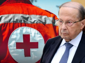 Michel Aoun in on the Red Cross & Red Crescent Day