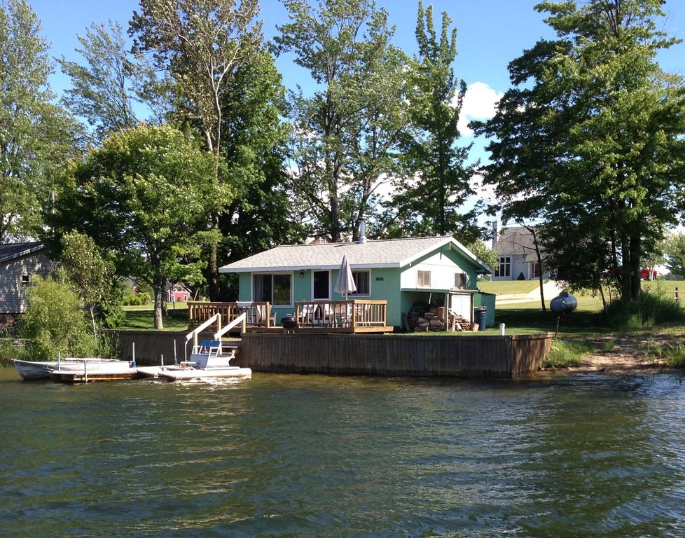 Cadillac Area Lakefront Cottage With Boat HomeAway