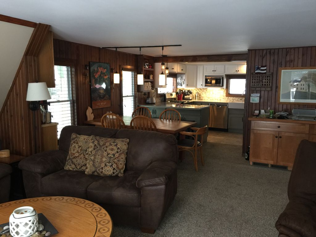 KPs Hamlin Lake Cottage Updated Classic A Frame With