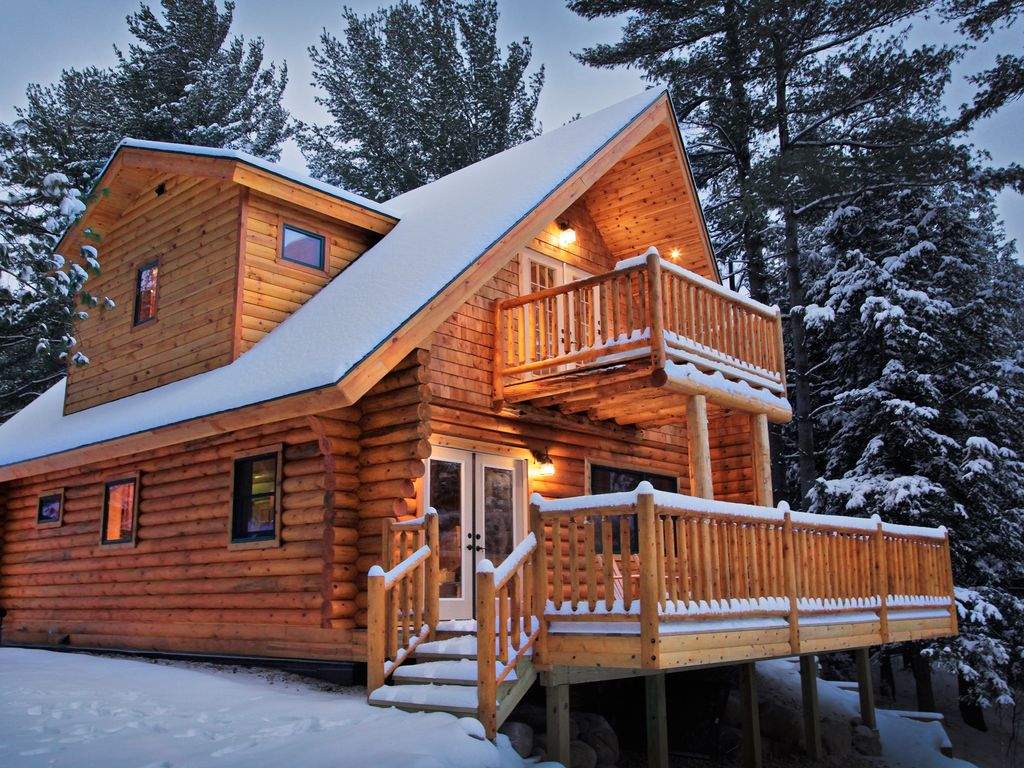 Adirondack Log Home With Riverfront Mounta HomeAway
