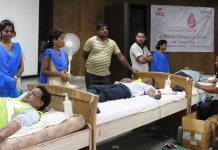 Blood donation drive by Adani Foundation