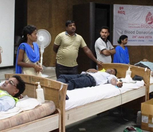 Blood donation drive by Adani Foundation