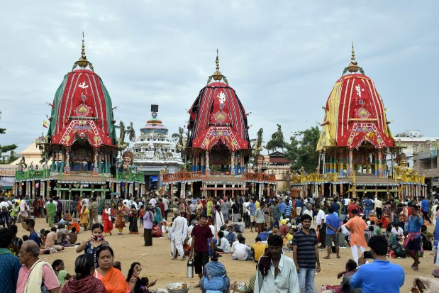 Three Chariots in Saradhabali Puri