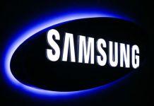 Samsung logo at Samsung Customer Service Center