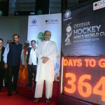 Chief Minister Naveen Patnaik launching the countdown of Odisha Men's Hockey World Cup at Kalinga Stadium in Bhubaneswar