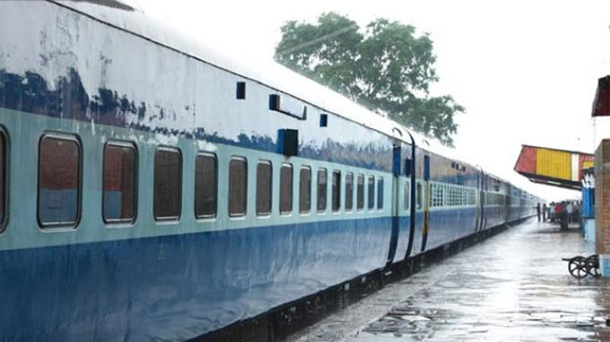 train affected by rain
