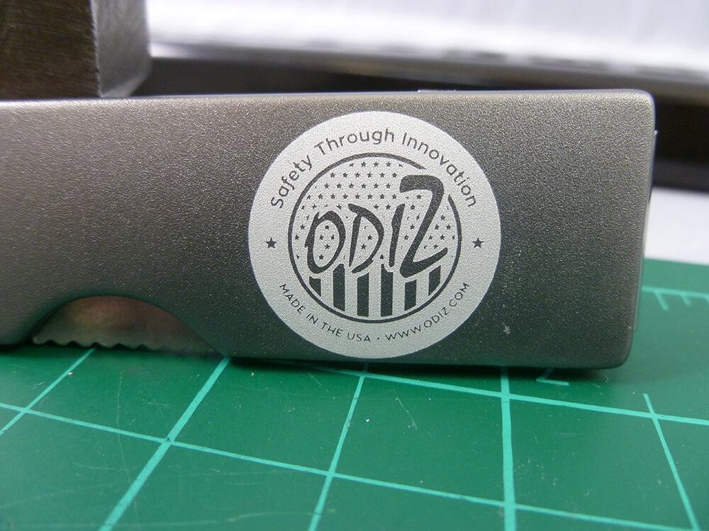 Odiz Logo Laser Etched