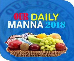 Our Daily Manna Devotional 9th January 2018