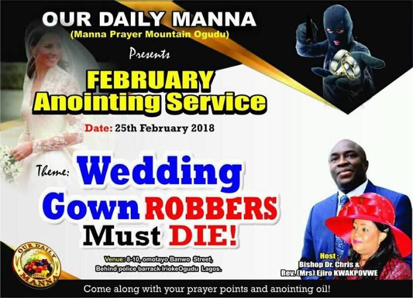 ODM LAGOS (OGUDU) WEDDING GOWN ROBBERS MUST DIE!