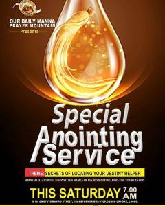 "The LEKKI Anointing Service - ""I SHALL RECOVER ALL"""
