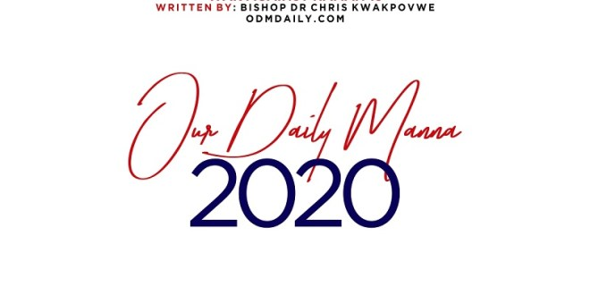 Daily Manna devotional 2020