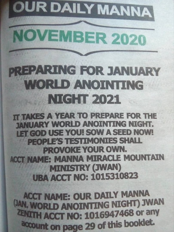 ODM 2021 WORLD ANOINTING NIGHT