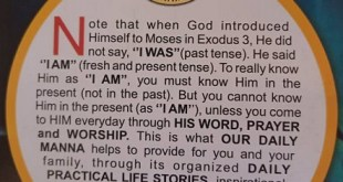 Our Daily Manna ODM Message
