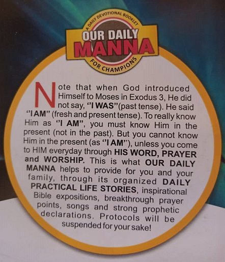 OUR DAILY MANNA 2021