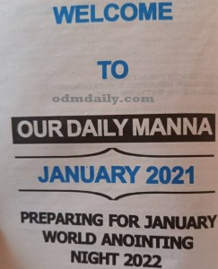 Our Daily Manna 12 January 2021